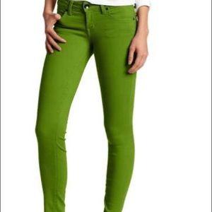 Level 99 Sz 28 Janice Kiwi Skinny Jeans